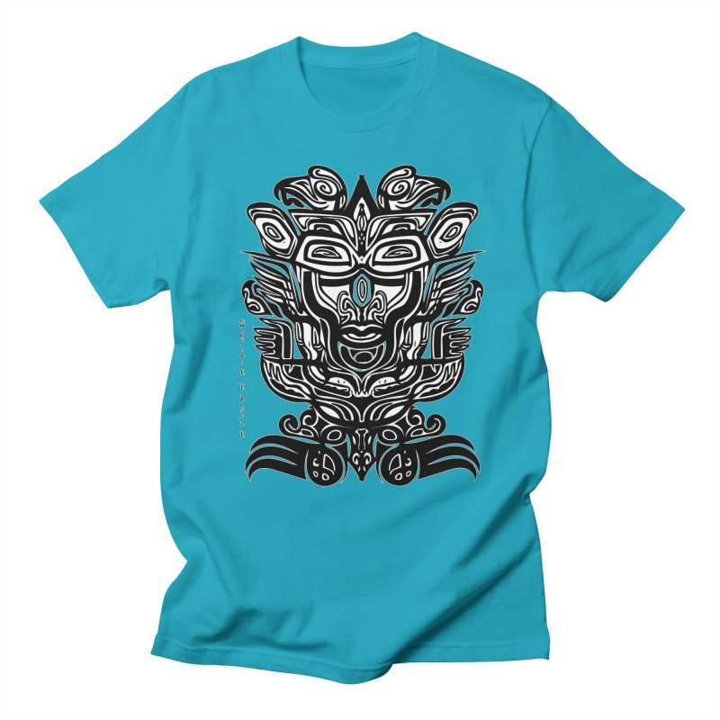 TOTEM (TRIBAL LINEAR ) SERIES Men's Regular T-Shirt by  SAMSKARA