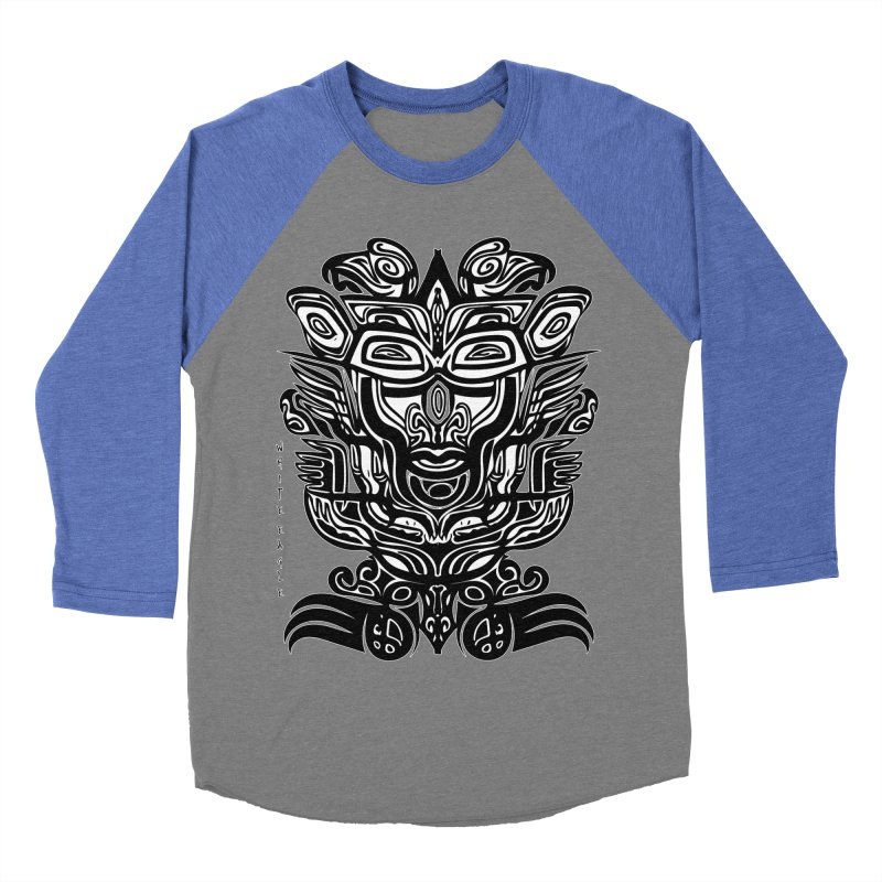 TOTEM (TRIBAL LINEAR ) SERIES Men's Baseball Triblend Longsleeve T-Shirt by  SAMSKARA