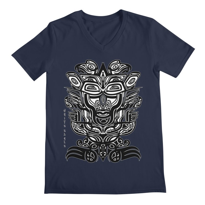 TOTEM (TRIBAL LINEAR ) SERIES Men's Regular V-Neck by  SAMSKARA