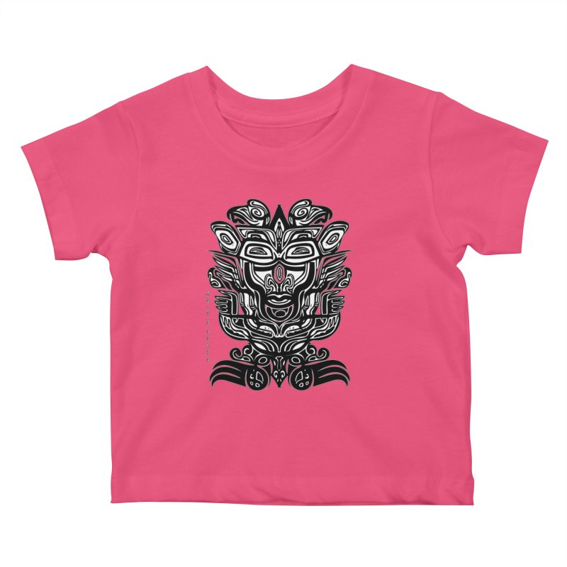 TOTEM (TRIBAL LINEAR ) SERIES Kids Baby T-Shirt by  SAMSKARA