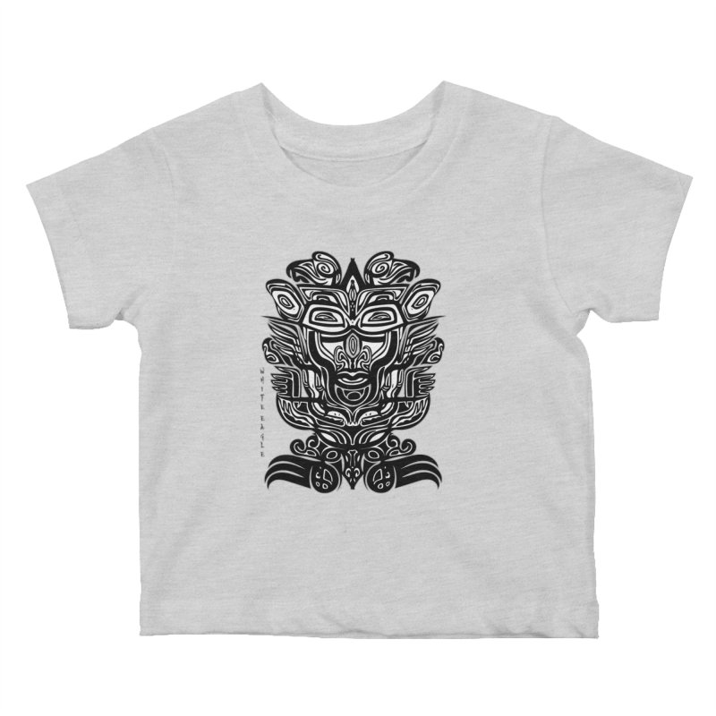 TOTEM (TRIBAL LINEAR ) SERIES Kids Baby T-Shirt by  SAMSKARA
