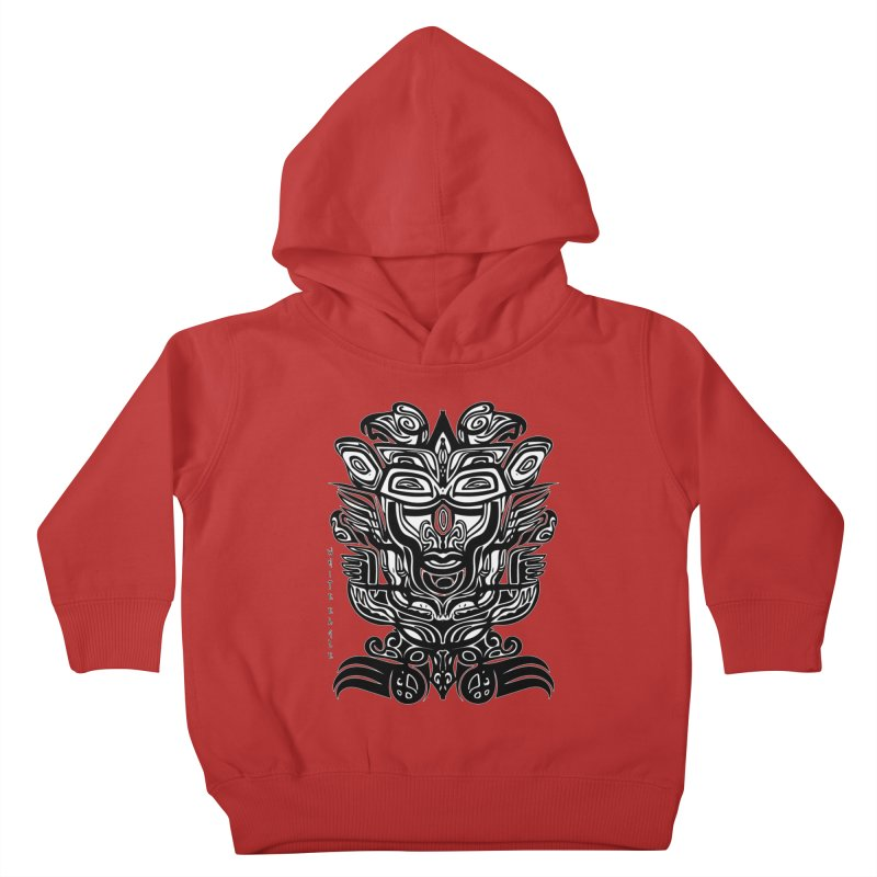 TOTEM (TRIBAL LINEAR ) SERIES Kids Toddler Pullover Hoody by  SAMSKARA