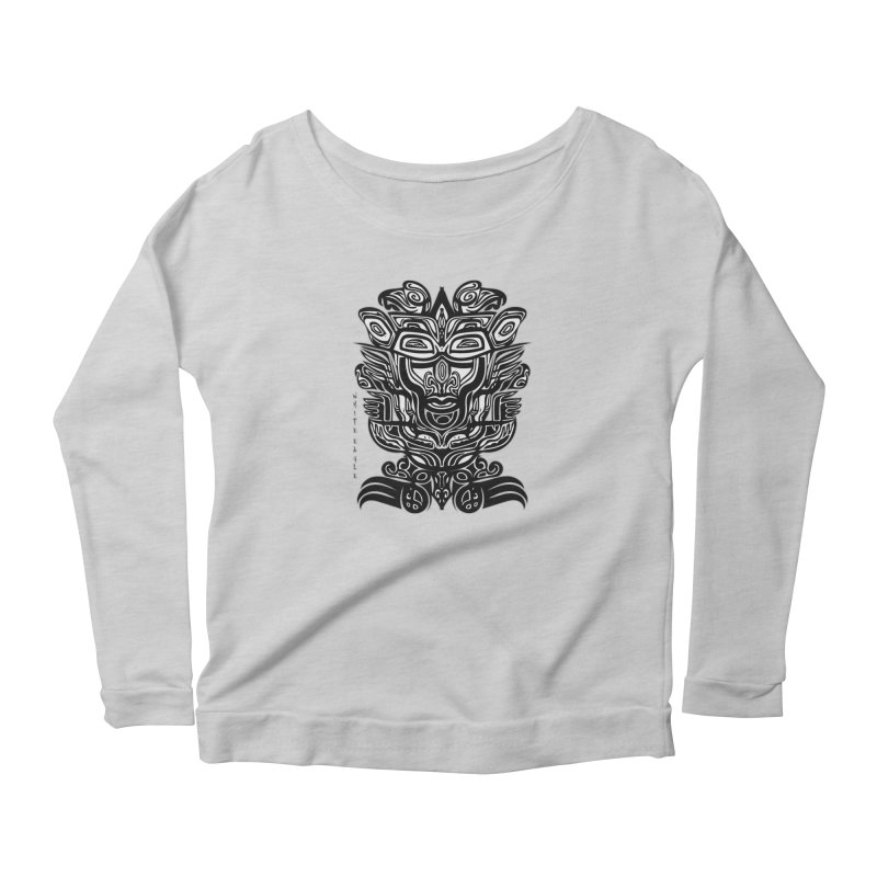 TOTEM (TRIBAL LINEAR ) SERIES Women's Scoop Neck Longsleeve T-Shirt by  SAMSKARA