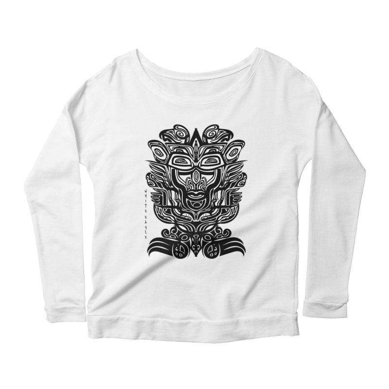 TOTEM (TRIBAL LINEAR ) SERIES Women's Scoop Neck Longsleeve T-Shirt by  SAMSKARA