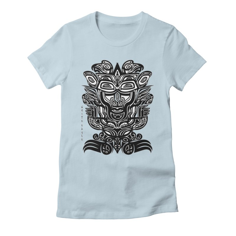 TOTEM (TRIBAL LINEAR ) SERIES Women's Fitted T-Shirt by  SAMSKARA