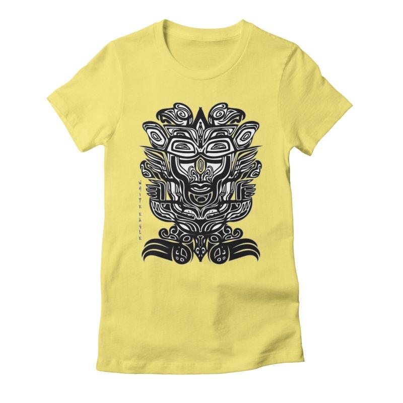 TOTEM (TRIBAL LINEAR ) SERIES Women's Fitted T-Shirt by  SAMSKARA