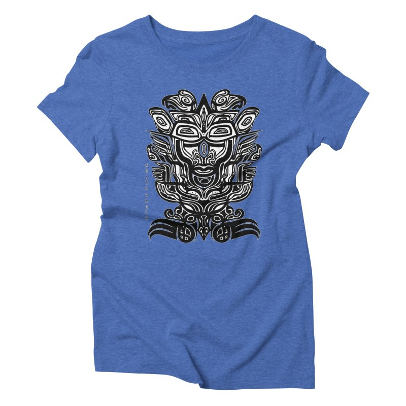 TOTEM (TRIBAL LINEAR ) SERIES Women's Triblend T-Shirt by  SAMSKARA