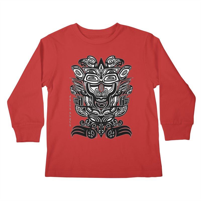 TOTEM (TRIBAL LINEAR ) SERIES Kids Longsleeve T-Shirt by  SAMSKARA