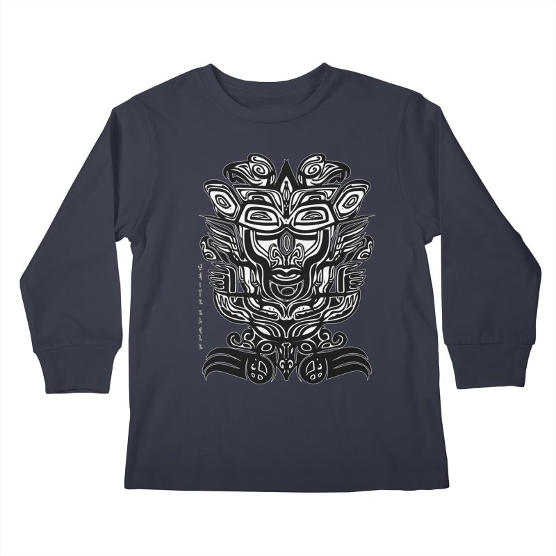 TOTEM (TRIBAL LINEAR ) SERIES Kids Longsleeve T-Shirt by  SAMSKARA