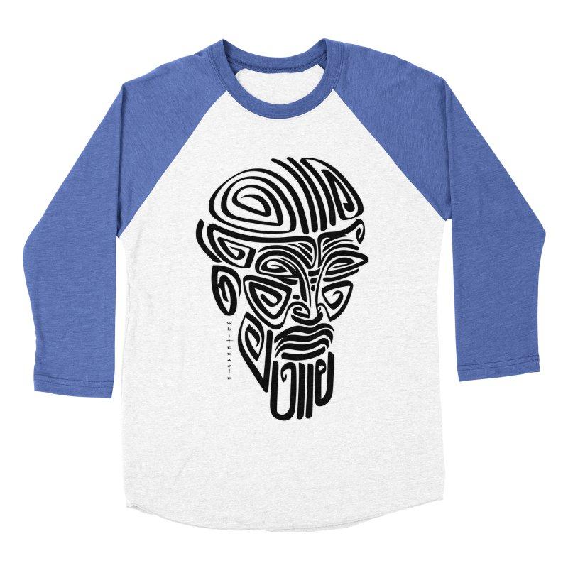 TRIBAL LINEAR Men's Baseball Triblend Longsleeve T-Shirt by  SAMSKARA