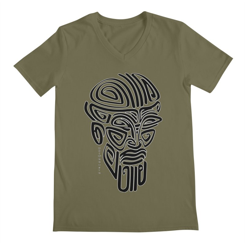 TRIBAL LINEAR Men's Regular V-Neck by  SAMSKARA