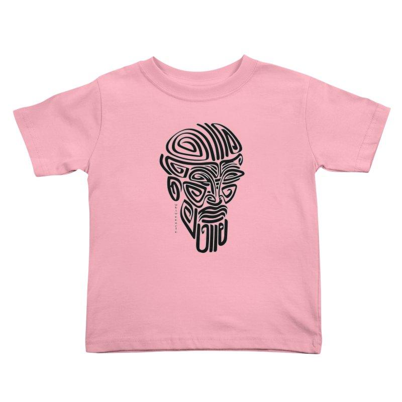 TRIBAL LINEAR Kids Toddler T-Shirt by  SAMSKARA