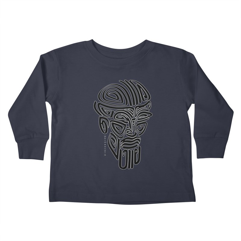 TRIBAL LINEAR Kids Toddler Longsleeve T-Shirt by  SAMSKARA