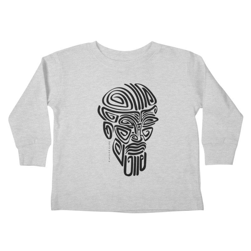 TRIBAL LINEAR Kids Toddler Longsleeve T-Shirt by  SAMSKARA