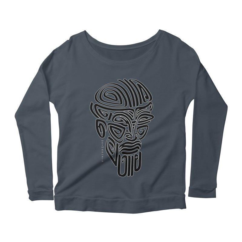 TRIBAL LINEAR Women's Scoop Neck Longsleeve T-Shirt by  SAMSKARA
