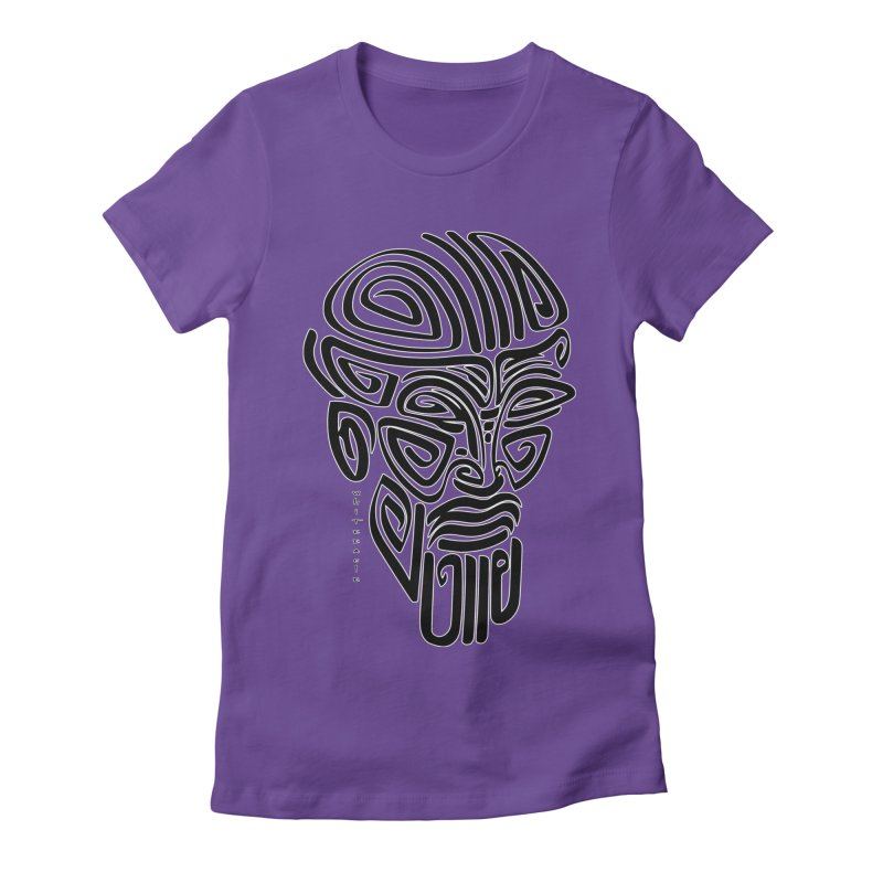 TRIBAL LINEAR Women's Fitted T-Shirt by  SAMSKARA