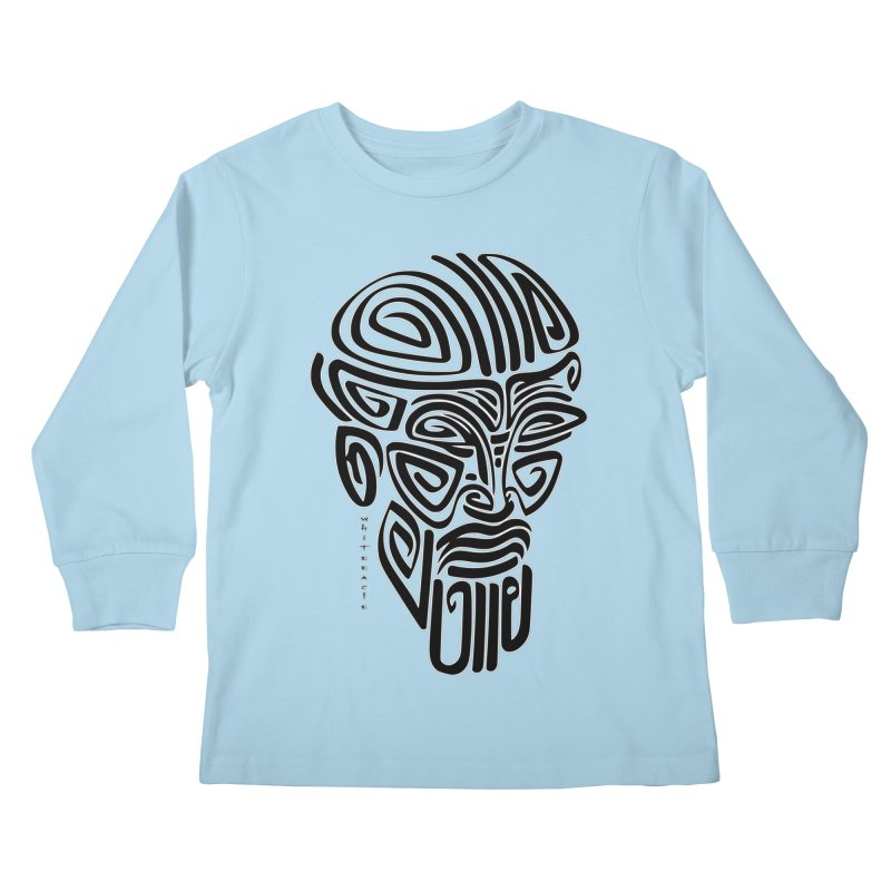 TRIBAL LINEAR Kids Longsleeve T-Shirt by  SAMSKARA