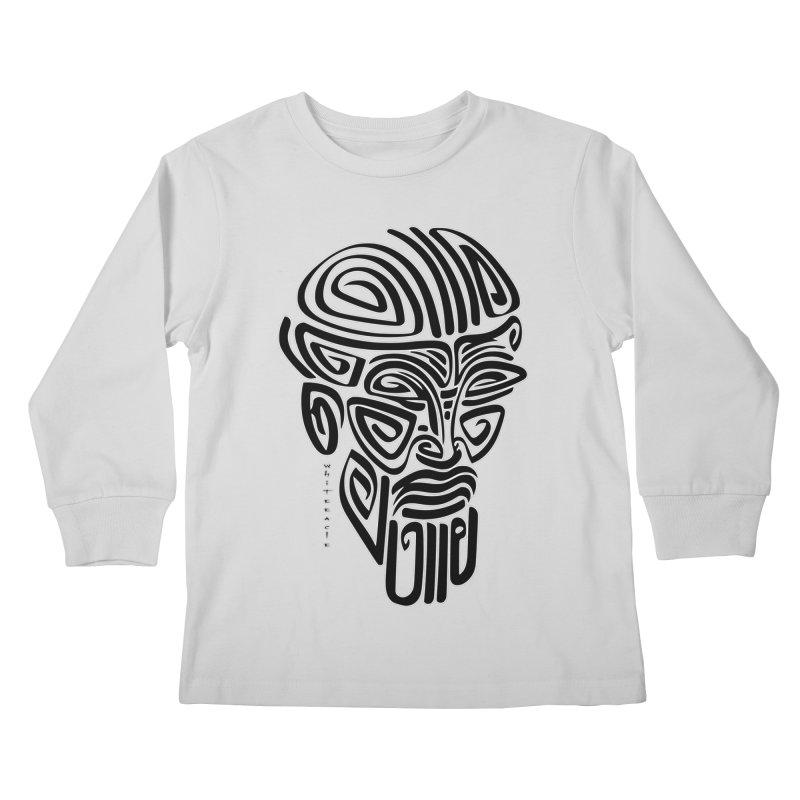 TRIBAL LINEAR Kids Longsleeve T-Shirt by  SAMSKARA