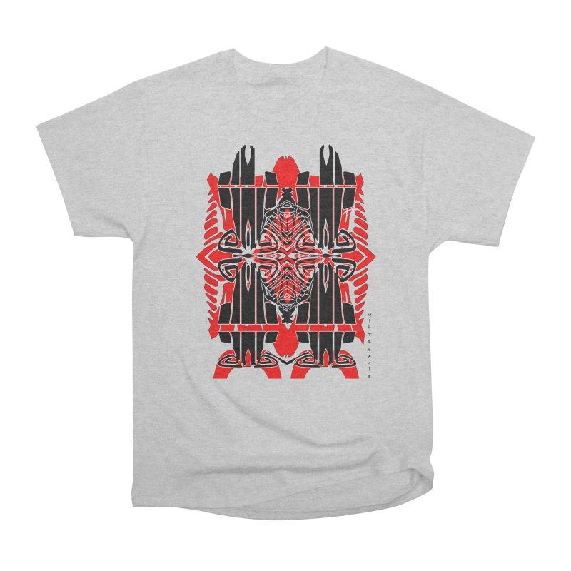 Tribal Linear Women's Heavyweight Unisex T-Shirt by  SAMSKARA