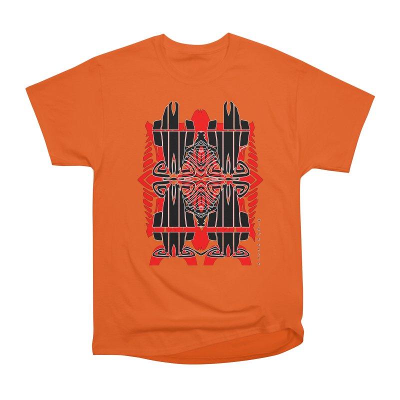 Tribal Linear Men's Heavyweight T-Shirt by  SAMSKARA