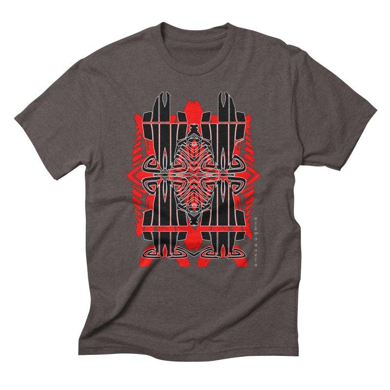 Tribal Linear Men's Triblend T-Shirt by  SAMSKARA