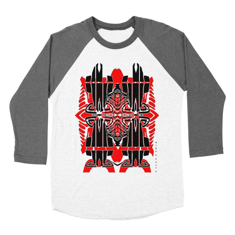 Tribal Linear Men's Baseball Triblend Longsleeve T-Shirt by  SAMSKARA