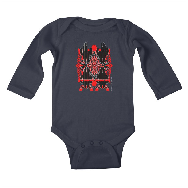 Tribal Linear Kids Baby Longsleeve Bodysuit by  SAMSKARA