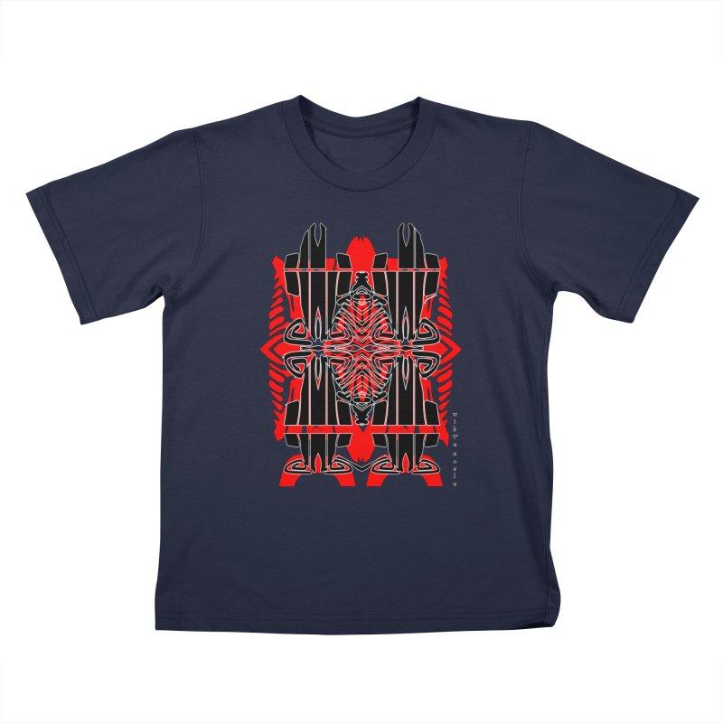 Tribal Linear Kids T-Shirt by  SAMSKARA