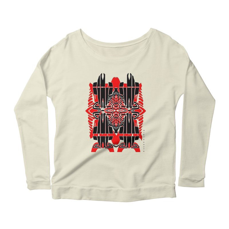 Tribal Linear Women's Longsleeve Scoopneck  by  SAMSKARA