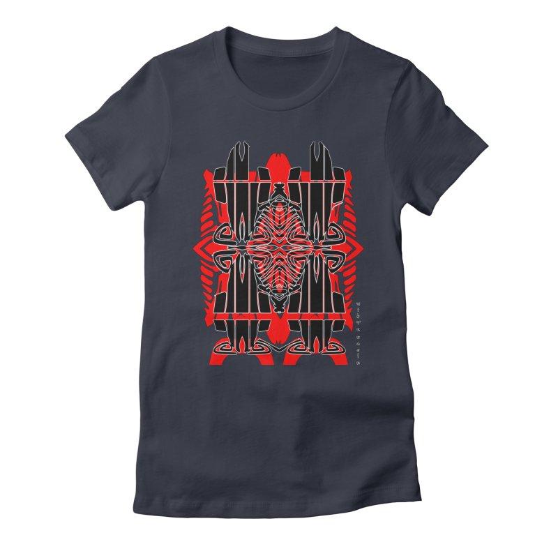 Tribal Linear Women's Fitted T-Shirt by  SAMSKARA
