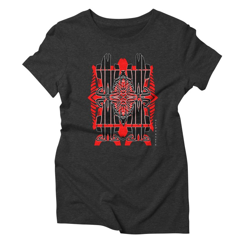Tribal Linear Women's Triblend T-Shirt by  SAMSKARA