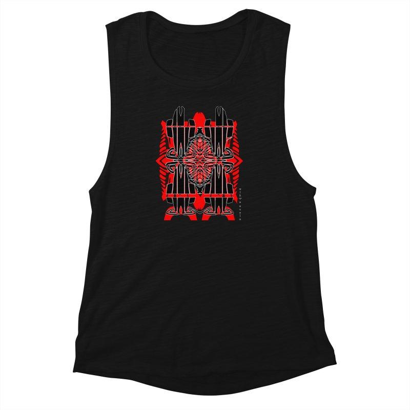 Tribal Linear Women's Muscle Tank by  SAMSKARA