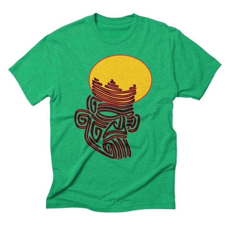 Ancestor Kings Men's Triblend T-Shirt by  SAMSKARA