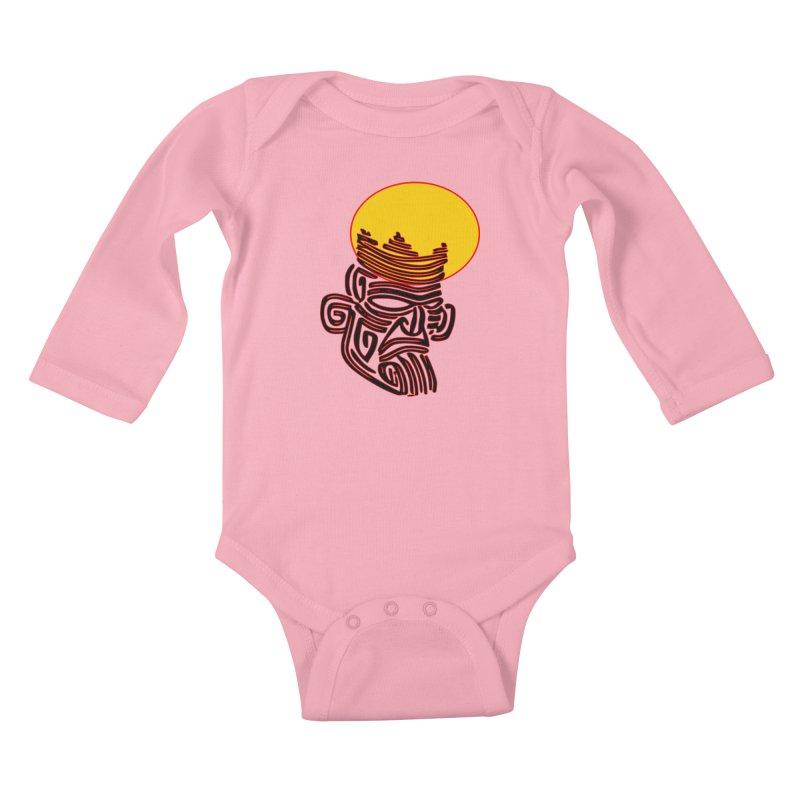 Ancestor Kings Kids Baby Longsleeve Bodysuit by  SAMSKARA