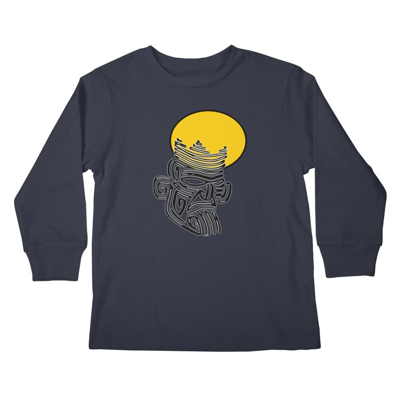 Ancestor Kings Kids Longsleeve T-Shirt by  SAMSKARA