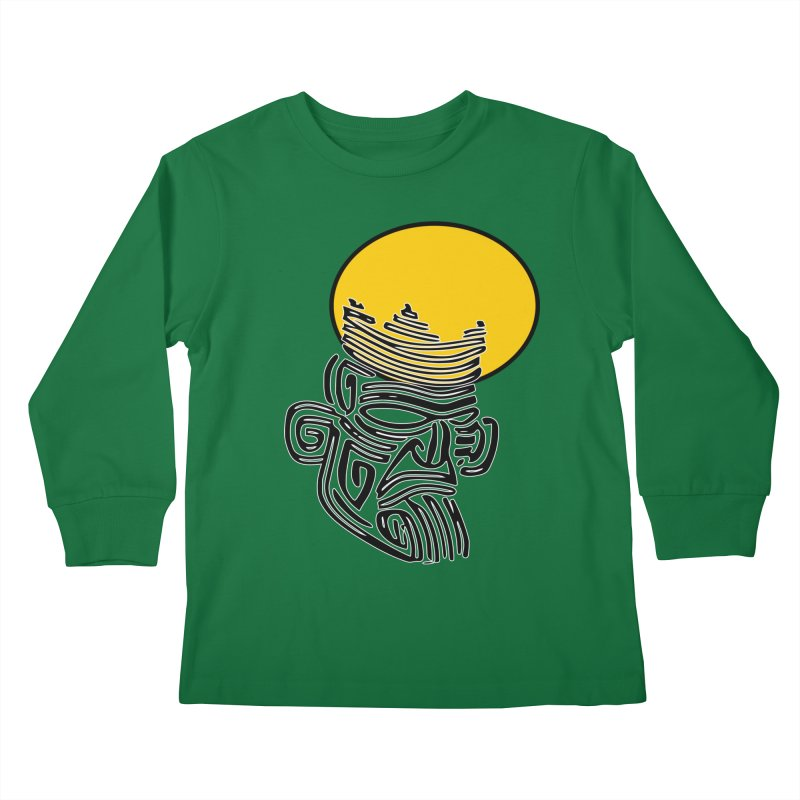 Ancestor Kings Kids Longsleeve T-Shirt by  SAMSKARA