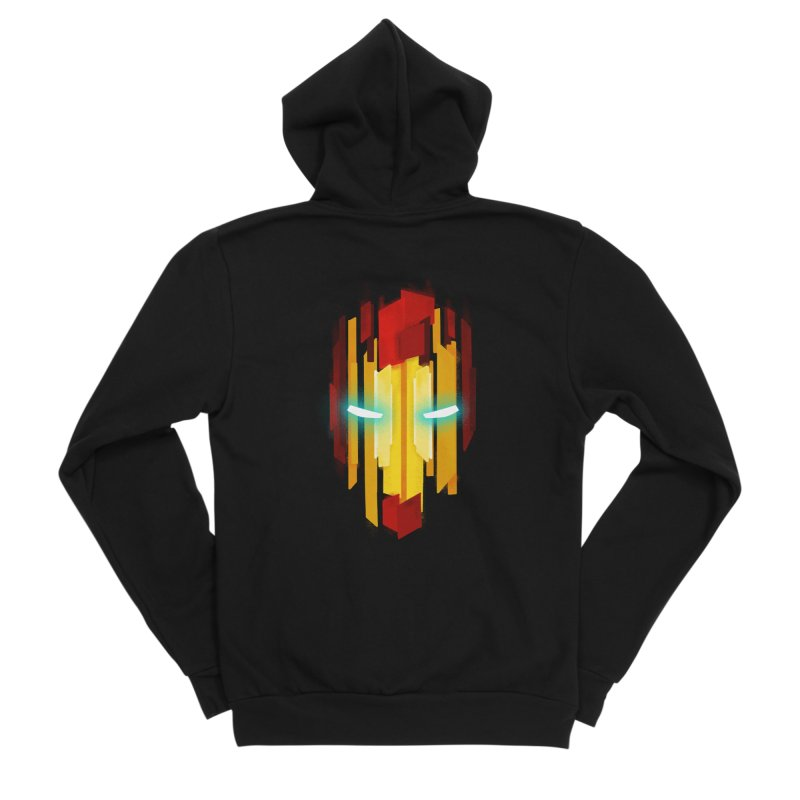 Gabe's Iron Man Women's Sponge Fleece Zip-Up Hoody by Sam Stone's Shop