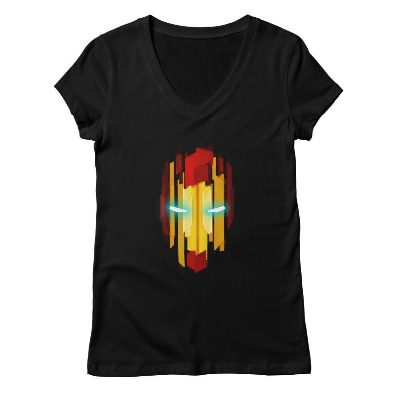 Gabe's Iron Man Women's V-Neck by Sam Stone's Shop