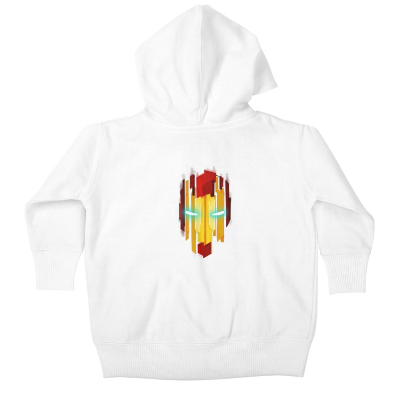Gabe's Iron Man Kids Baby Zip-Up Hoody by Sam Stone's Shop