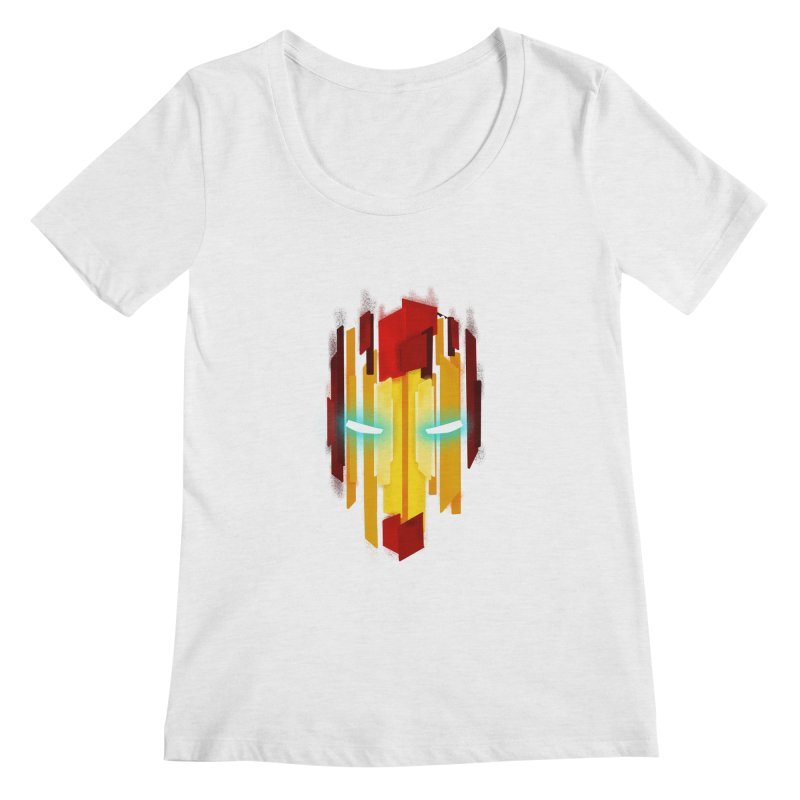 Gabe's Iron Man Women's Regular Scoop Neck by Sam Stone's Shop