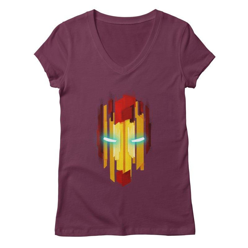 Gabe's Iron Man Women's Regular V-Neck by Sam Stone's Shop