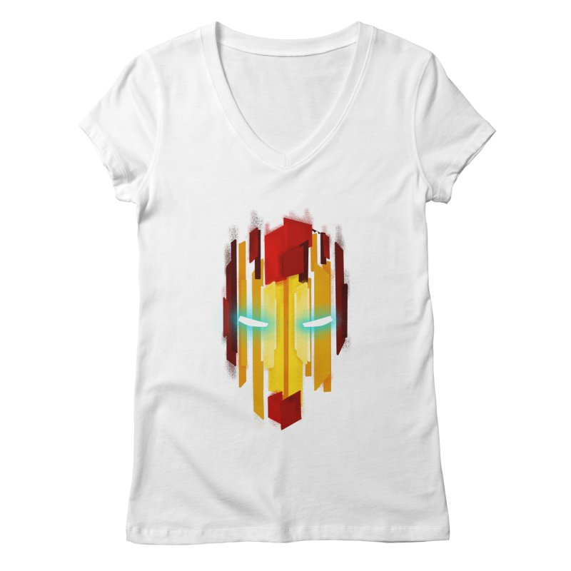 Gabe's Iron Man Women's Regular V-Neck by Sam Stone's Shop