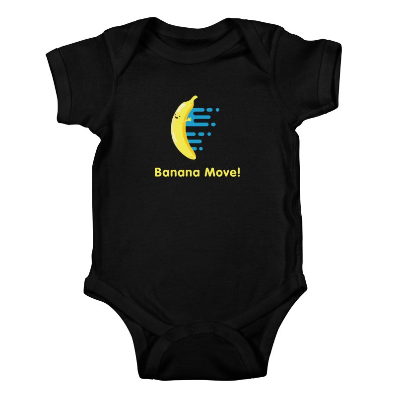 Banana Move! Kids Baby Bodysuit by Sam Stone's Shop