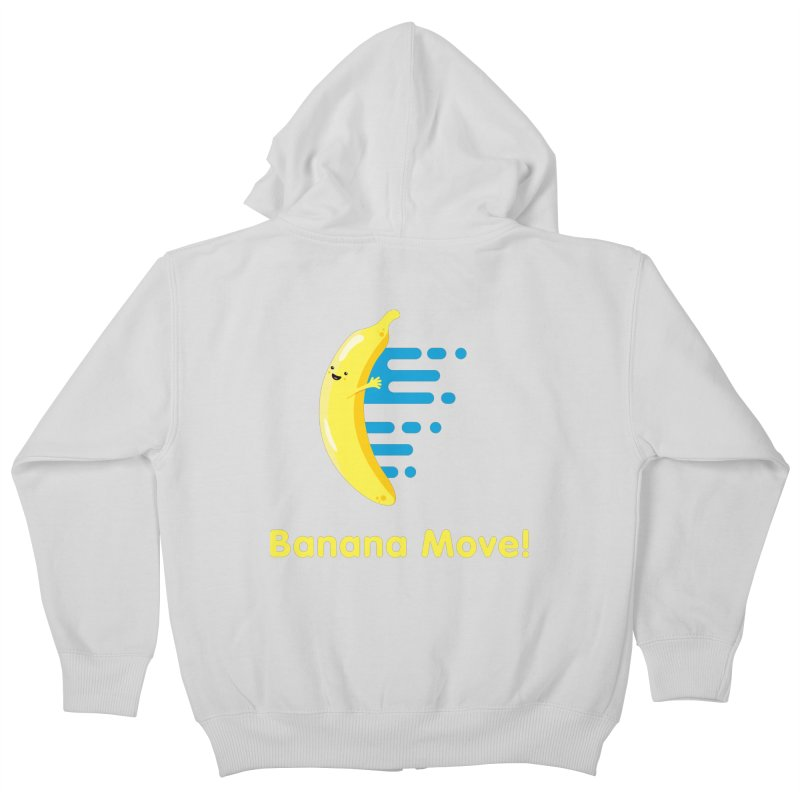 Banana Move! Kids Zip-Up Hoody by Sam Stone's Shop