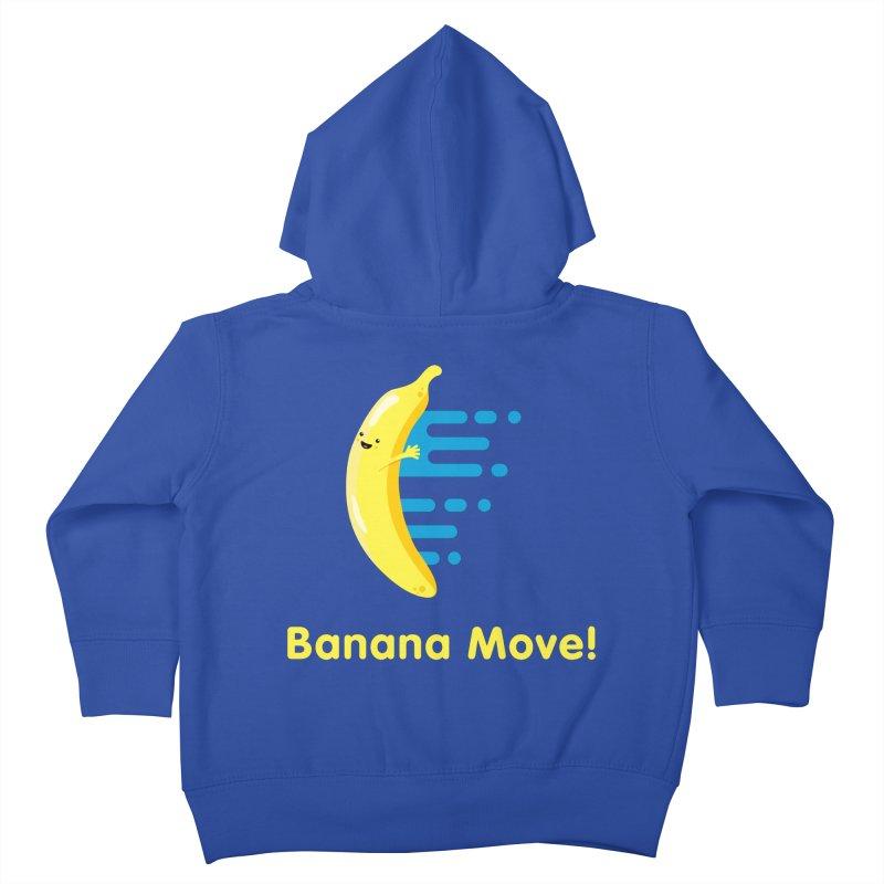 Banana Move! Kids Toddler Zip-Up Hoody by Sam Stone's Shop