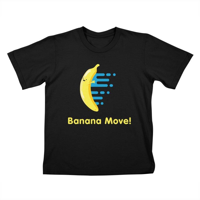 Banana Move! Kids T-Shirt by Sam Stone's Shop