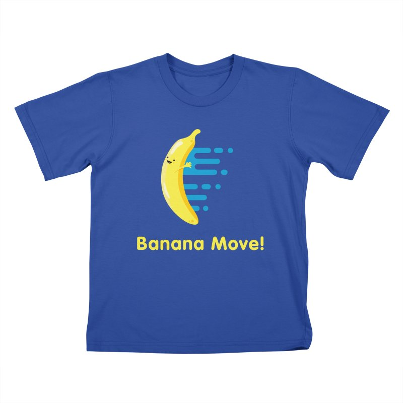 Banana Move! Kids T-Shirt by Sam Stone's Shop