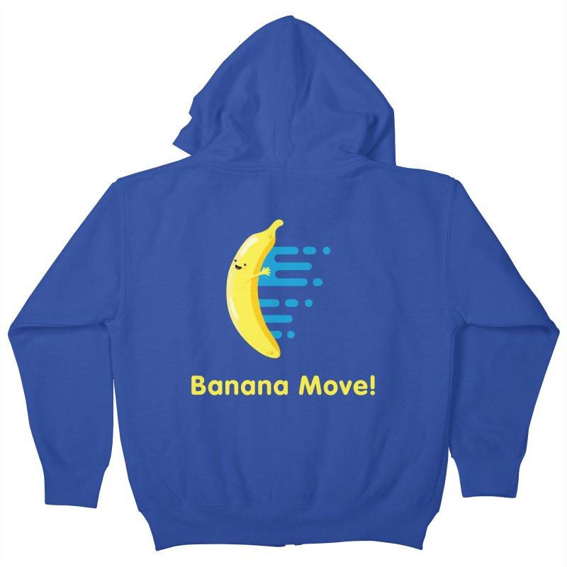 Banana Move! Kids Zip-Up Hoody by Sam Stone's Shop