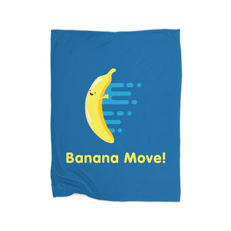 Banana Move! Home Blanket by Sam Stone's Shop