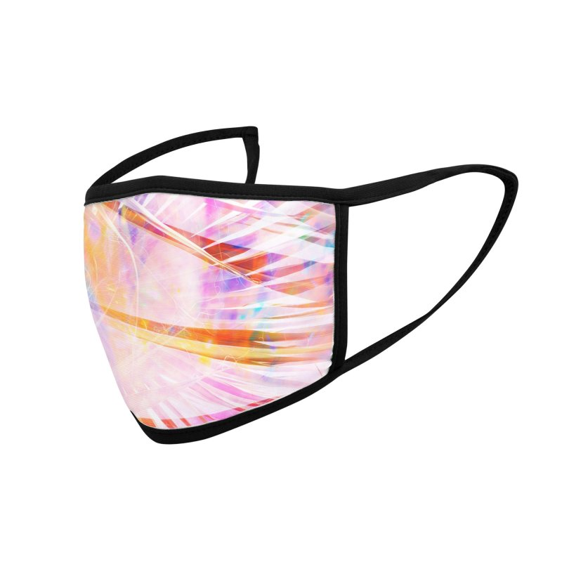 Rainbow Palm Trees Accessories Face Mask by Sam Stone's Shop